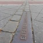 Traccia del Muro di Berlino in Leipziger Platz